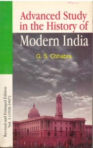Advanced Study in The History of Modern India Vol 3