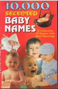 10000 selected baby names