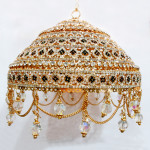 High Quality Diamond Cut Gold Plated 6 Inches Chhattar with Studs (Inclusive Taxes*)